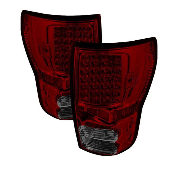xTune ALT-ON-TTU07-LED-RS |  Toyota Tundra 07-12 LED Tail lights - Red Smoke
