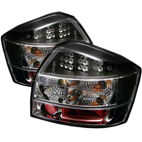 Spyder (5000026)  Audi A4 02-05 LED Tail Lights - Black  - (ALT-YD-AA402-LED-BK)