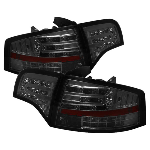 Spyder ALT-YD-AA406-G2-LED-SM:  Audi A4 4Dr 06-08 LED Tail Lights - Smoke