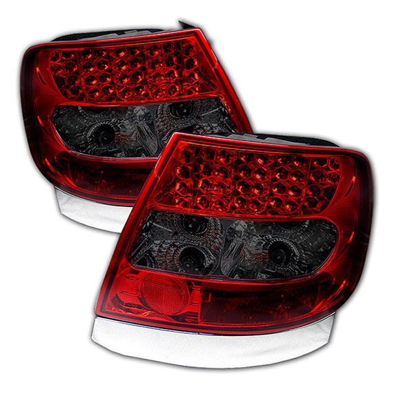 Spyder ALT-YD-AA496-LED-RS:  Audi A4 96-01 LED Tail Lights - Red Smoke