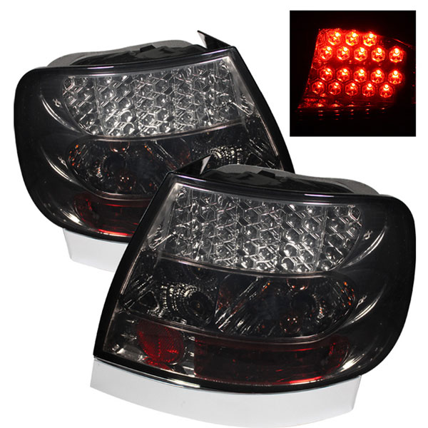 Spyder 5000132:  Audi A4 96-01 LED Tail Lights - Smoke  - (ALT-YD-AA496-LED-SM)