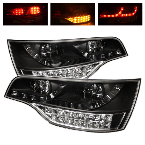 Spyder 5000279 |  Audi Q7 LED Tail Lights - Black - (ALT-YD-AQ707-LED-BK); 2007-2009