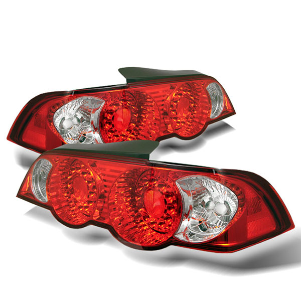 Spyder ALT-YD-ARSX02-LED-RC:  Acura RSX 02-04 LED Tail Lights - Red Clear