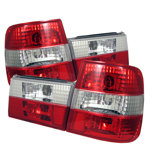 Spyder ALT-YD-BE3488-RC:  BMW E34 5-Series 88-95 Altezza Tail Lights - Red Clear