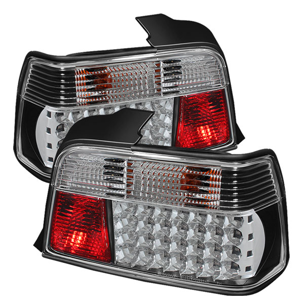 Spyder ALT-YD-BE3692-4D-LED-BK:  BMW E36 3-Series 92-98 4Dr LED Tail Lights - Black