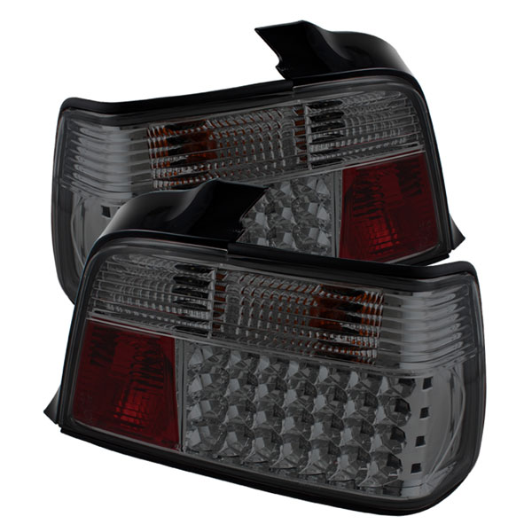 Spyder ALT-YD-BE3692-4D-LED-SM:  BMW E36 3-Series 92-98 4Dr LED Tail Lights - Smoke