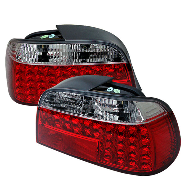 Spyder ALT-YD-BE3895-LED-RC:  BMW E38 7-Series 95-01 LED Tail Lights - Red Clear