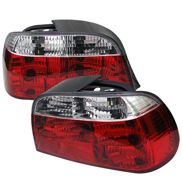 Spyder ALT-YD-BE3895-RC:  BMW E38 7-Series 95-01 Crystal Tail Lights - Red Clear