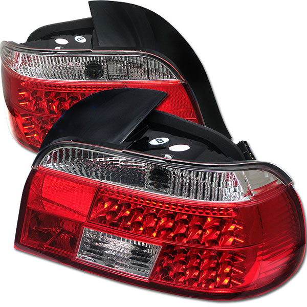 Spyder (5000675)  BMW E39 5-Series 97-00 LED Tail Lights - Red Clear  - (ALT-YD-BE3997-LED-RC)