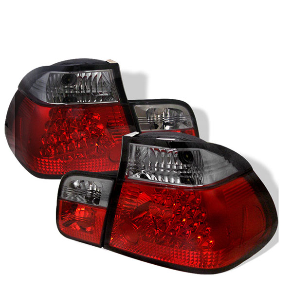 Spyder ALT-YD-BE4699-4D-LED-RS:  BMW E46 3-Series 99-01 4Dr LED Tail Lights - Red Smoke