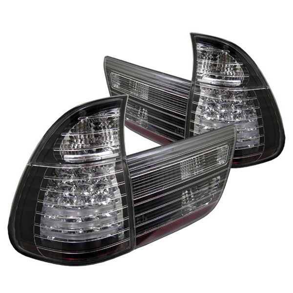 Spyder ALT-YD-BE5300-LED-BK:  BMW E53 X5 00-06 4PCS LED Tail Lights - Black
