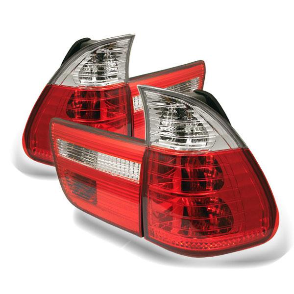 Spyder 5000835 |  BMW E53 X5 4PCS Tail Lights - Red Clear - (ALT-YD-BE5300-RC); 2000-2006
