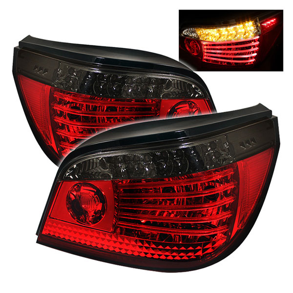 Spyder ALT-YD-BE6004-LED-RS:  BMW E60 5-Series 04-07 LED Tail Lights - Red Smoke