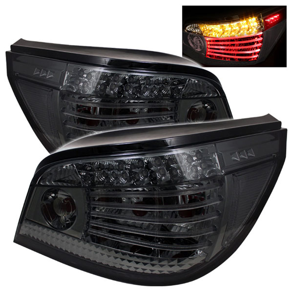 Spyder ALT-YD-BE6004-LED-SM:  BMW E60 5-Series 04-07 LED Tail Lights - Smoke