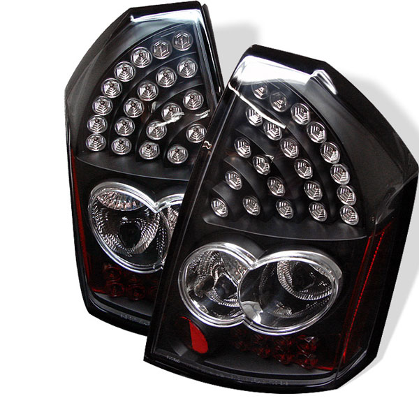 Spyder 5000934 |  Chrysler 300C LED Tail Lights - Black - (ALT-YD-C305-LED-BK); 2005-2007