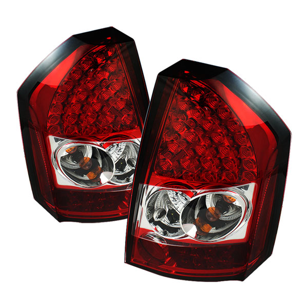 Spyder ALT-YD-C308-LED-RC:  Chrysler 300C 08-10 LED Tail Lights - Red Clear