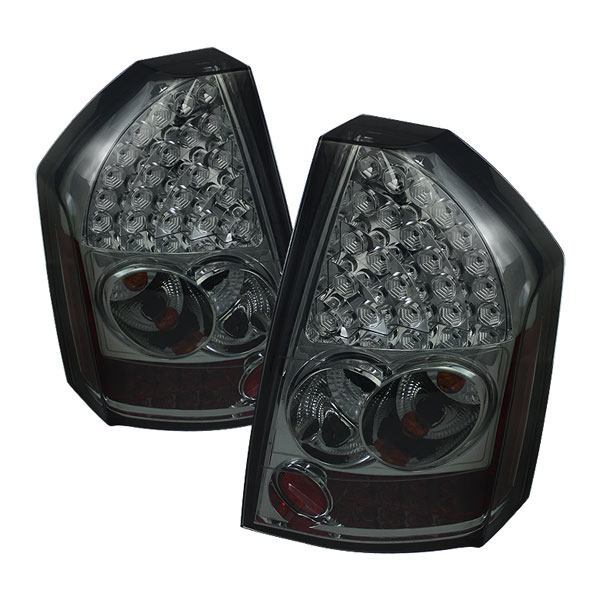 Spyder ALT-YD-C308-LED-SM:  Chrysler 300C 08-10 LED Tail Lights - Smoke