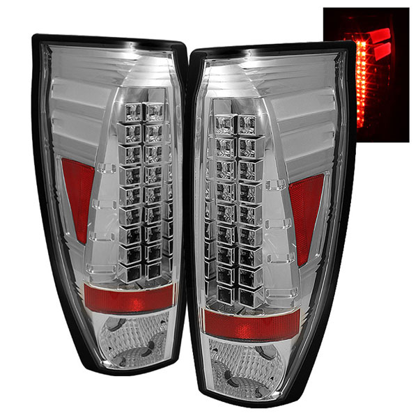 Spyder ALT-YD-CAV02-LED-C:  Chevrolet Avalanche 02-06 LED Tail Lights - Chrome