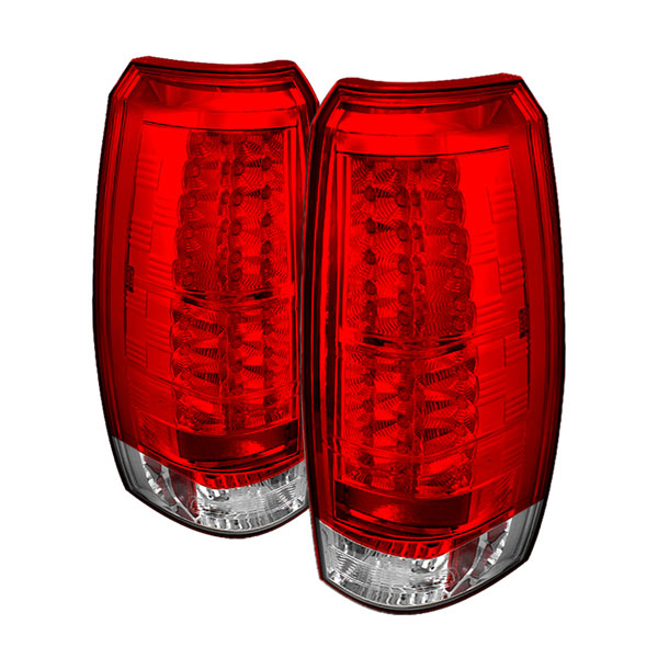 Spyder ALT-YD-CAV07-LED-RC:  Chevrolet Avalanche 07-12 LED Tail Lights - Red Clear