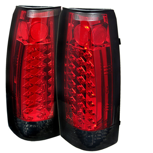 Spyder ALT-YD-CCK88-LED-RS:  C-10 88-98 Led Tail Lights - Red Smoke