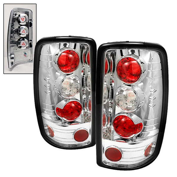 Spyder ALT-YD-CD00-BD-C:  Chevrolet Suburban/Tahoe 00-06 / GMC Yukon/ Yukon Denali 00-06 (Barn Door only) Euro Style Tail Lights - Chrome
