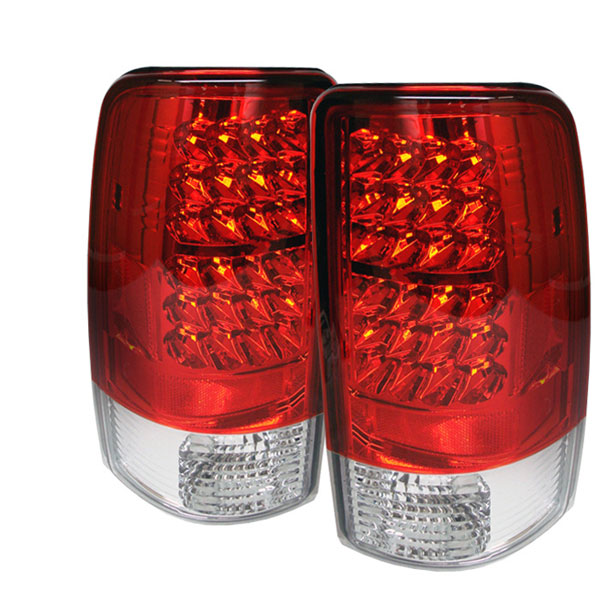 Spyder ALT-YD-CD00-LED-RC:  CHEVROLET SUBURBAN / TAHOE & 00-06 GMC YUKON / DENALI 00-06 Led Tail Lights - Red Clear