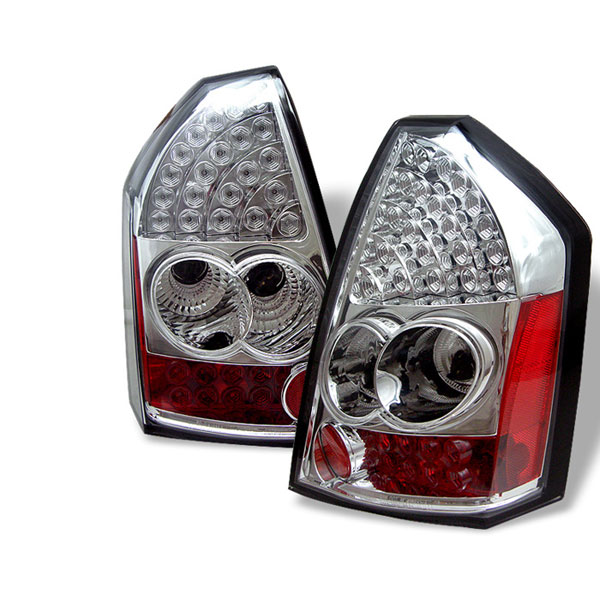 Spyder (5001634)  Chrysler 300 05-07 LED Tail Lights - Chrome  - (ALT-YD-CHR305-LED-C)