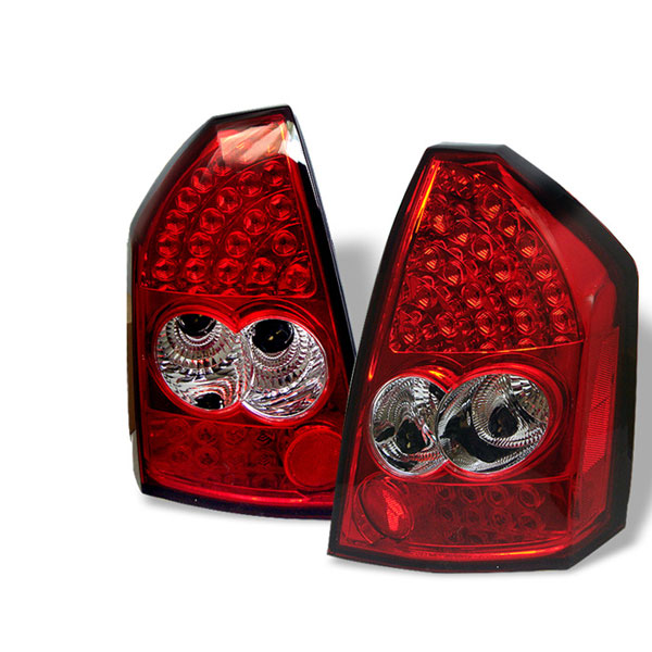 Spyder ALT-YD-CHR305-LED-RC:  Chrysler 300 05-07 LED Tail Lights - Red Clear