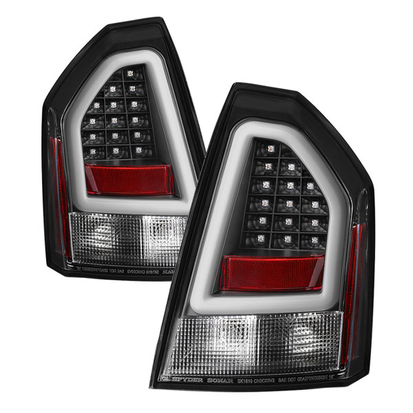 Chrysler 300 2006 Black Led Tail Lights: Chrysler 300 Version 2 Light Bar LED Tail