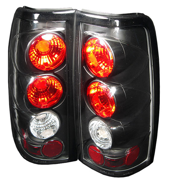 Spyder 5001696:  Silverado 03-06 Altezza Tail Lights - Black  - (ALT-YD-CS03-BK)