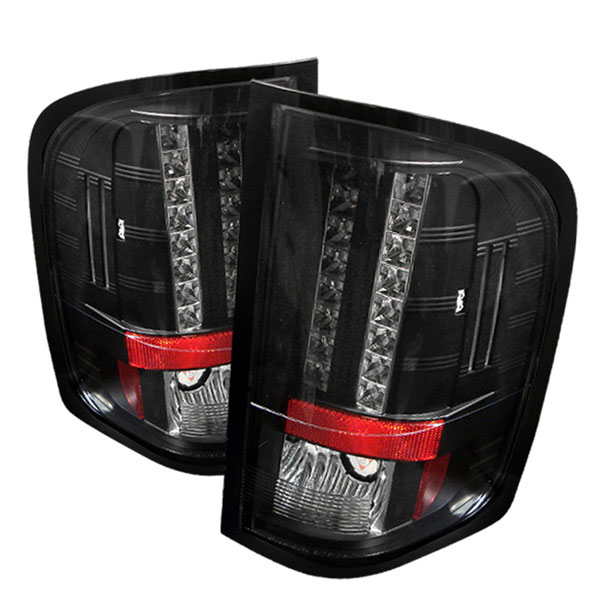 Spyder ALT-YD-CS07-LED-BK:  Silverado 07-08 Led Tail Lights - Black