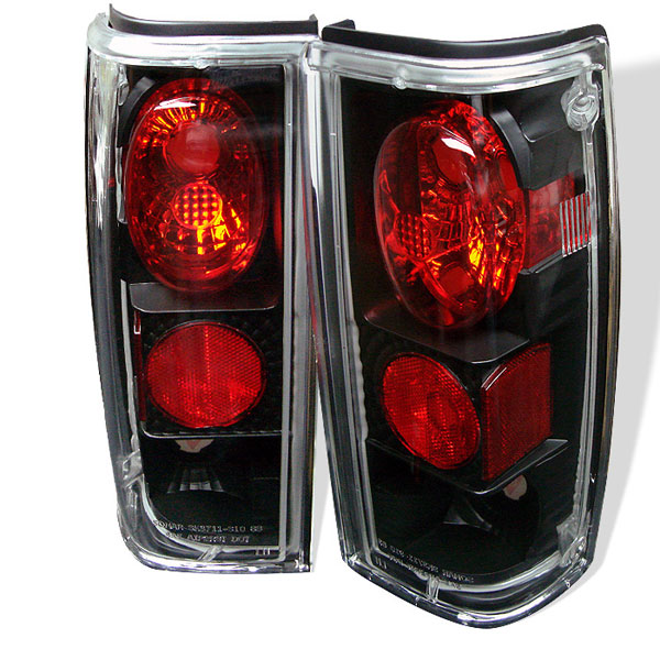 Spyder 5001832:  S-10 82-93 Altezza Tail Lights - Black  - (ALT-YD-CS1082-BK)