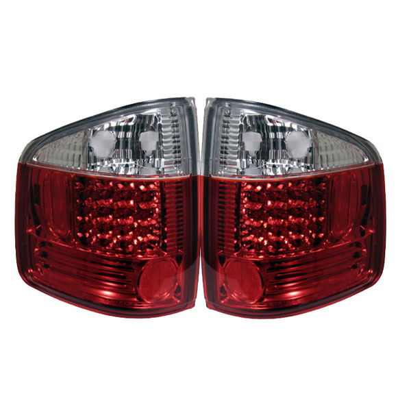 Spyder ALT-YD-CS1094-LED-RC:  Chevrolet S10 94-04 / GMC Sonoma 94-04 / Isuzu Hombre 96-00 LED Tail Lights - Red Clear