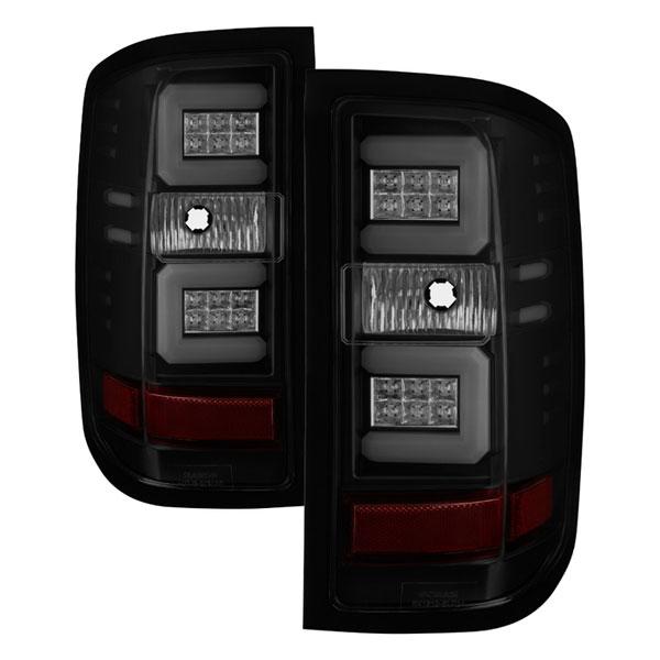 Spyder 5083739 |  Chevy Silverado Light Bar LED Tail Lights - Black Smoke - (ALT-YD-CS16-LED-BSM); 2016-2017