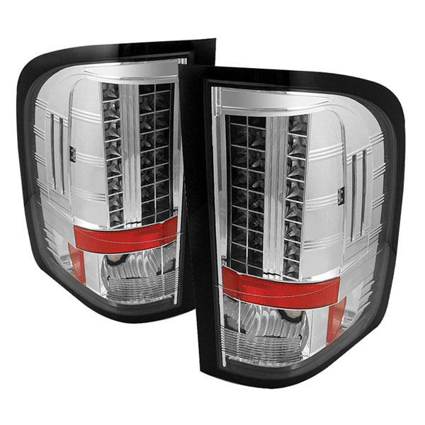Spyder ALT-YD-CS2010-LED-C:  Chevrolet Silverado 1500/2500/3500 09-10 ( Does Not Fit Model With Single Reverse Socket 3047 Bulb ) LED Tail Lights - Chrome