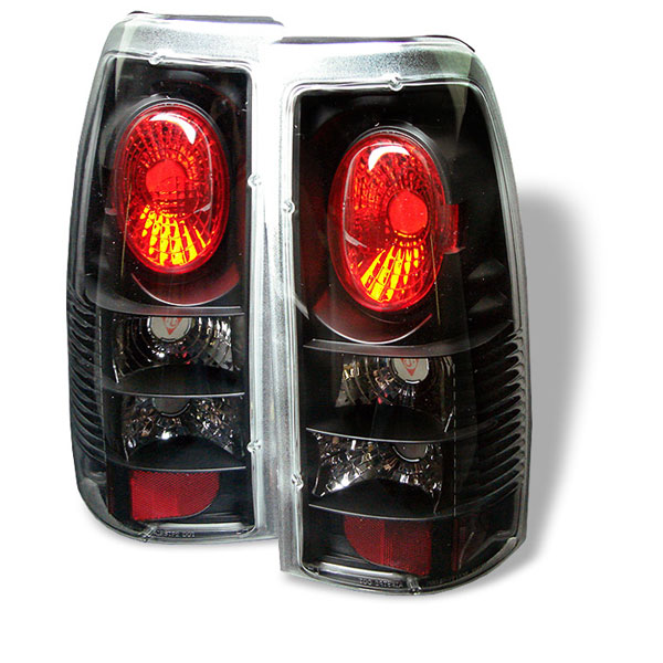 Spyder ALT-YD-CS99-BK:  Chevrolet Silverado 1500/2500 99-02 (Not Fit Stepside) / GMC Sierra 1500/2500/3500 99-03 Euro Style Tail Lights - Black