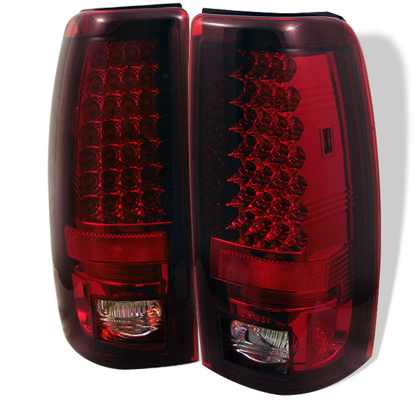 Spyder ALT-YD-CS99-LED-RC:  Chevrolet Silverado 1500/2500 99-02 (Not Fit Stepside) / GMC Sierra 1500/2500/3500 99-03 LED Tail Lights - Red Clear