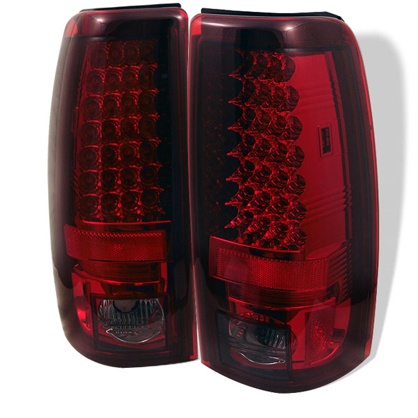 Spyder ALT-YD-CS99-LED-RS:  Silverado 99-02 Led Tail Lights - Red Smoke
