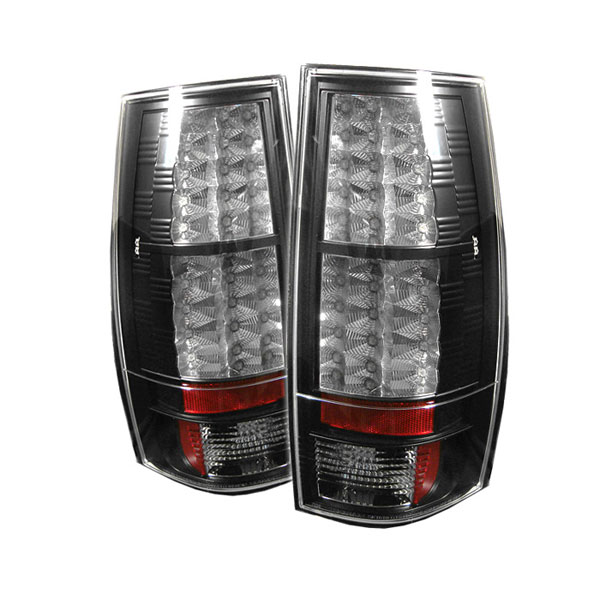 Spyder ALT-YD-CSUB07-LED-BK:  Suburban / Tahoe / Gmc Yukon / Denali 07-09 Led Tail Lights - Black