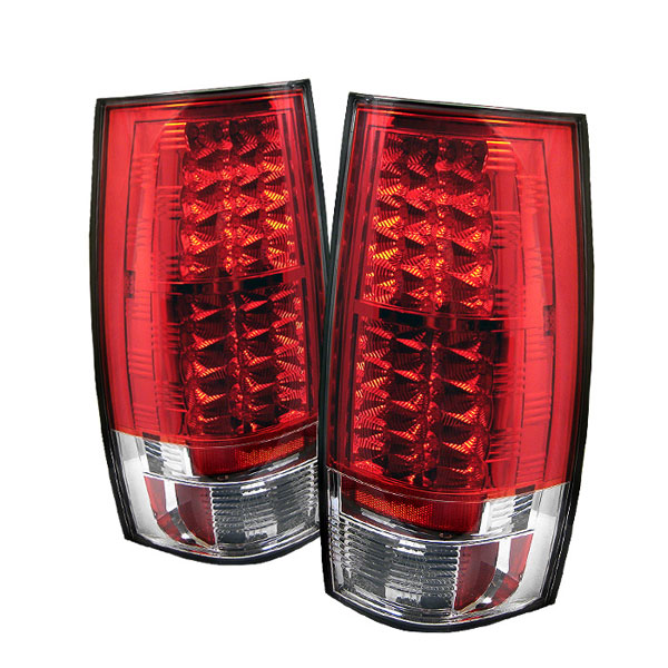 Spyder ALT-YD-CSUB07-LED-RC:  Suburban / Tahoe / Gmc Yukon / Denali 07-09 Led Tail Lights - Red Clear