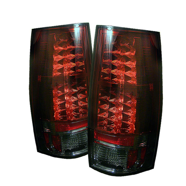 Spyder 5002167:  Suburban / Tahoe / Gmc Yukon / Denali 07-09 Led Tail Lights - Red Smoke  - (ALT-YD-CSUB07-LED-RS)