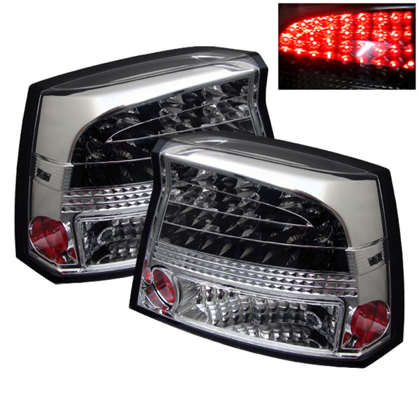 Spyder ALT-YD-DCH05-LED-C:  Dodge Charger 06-08 LED Tail Lights - Chrome