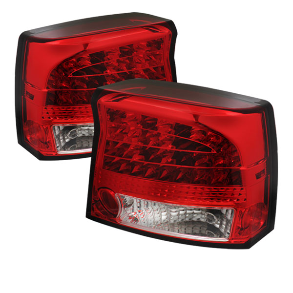 Spyder ALT-YD-DCH09-LED-RC:  Dodge Charger 09-10 LED Tail Lights - Red Clear
