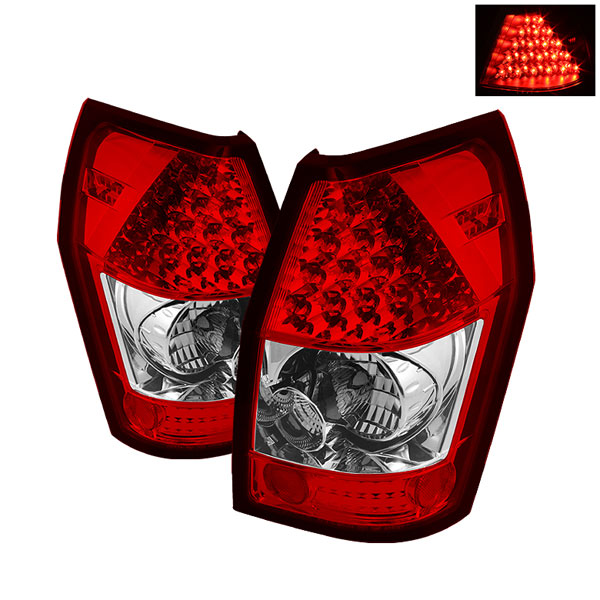 Spyder ALT-YD-DMAG05-LED-RC:  Dodge Magnum 05-08 LED Tail Lights - Red Clear