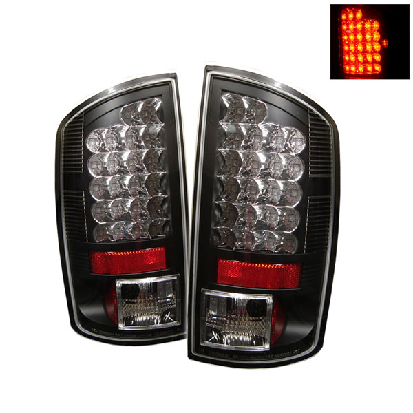 Spyder ALT-YD-DRAM06-LED-BK:  Dodge Ram 2500 06-09 / Ram 3500 06-09 LED Tail Lights - Black