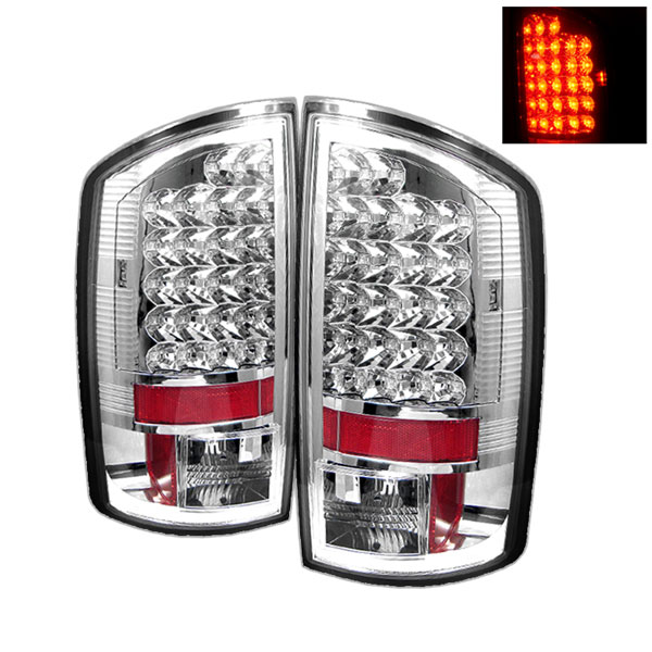 Spyder ALT-YD-DRAM06-LED-C:  Dodge Ram 2500 06-09 / Ram 3500 06-09 LED Tail Lights - Chrome