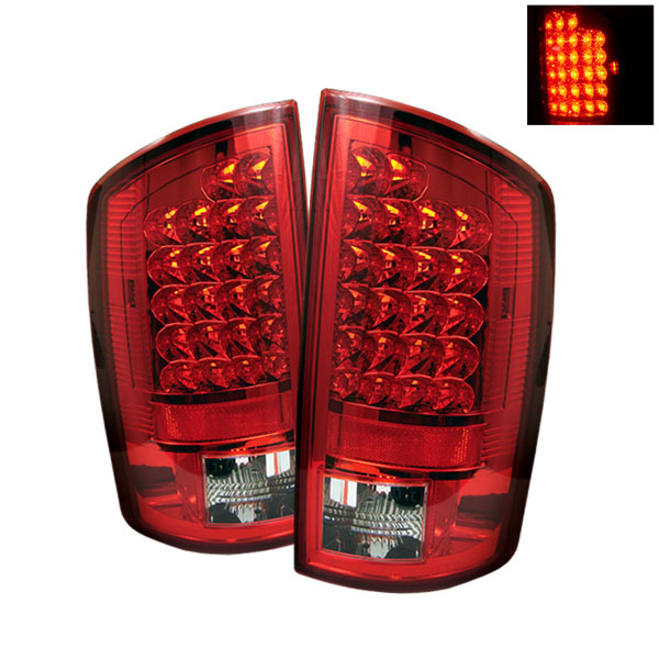 Spyder ALT-YD-DRAM06-LED-RC:  Dodge Ram 2500 06-09 / Ram 3500 06-09 LED Tail Lights - Red Clear