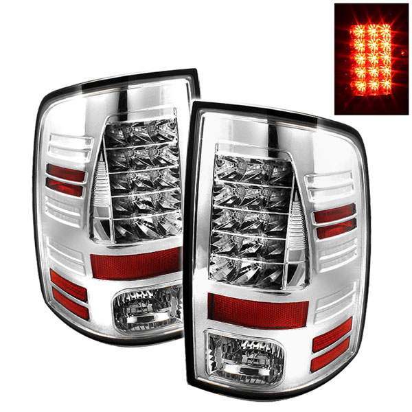 Spyder ALT-YD-DRAM09-LED-C:  Dodge Ram 2500 10-12 / Ram 3500 10-12 LED Tail Lights - Chrome