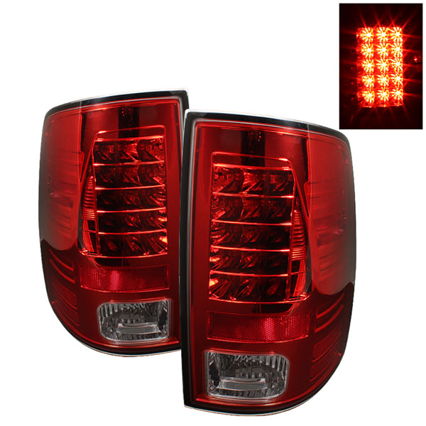 Spyder (5017574)  Dodge Ram 2500 10-12 / Ram 3500 10-12 LED Tail Lights - Red Smoke  - (ALT-YD-DRAM09-LED-RS)
