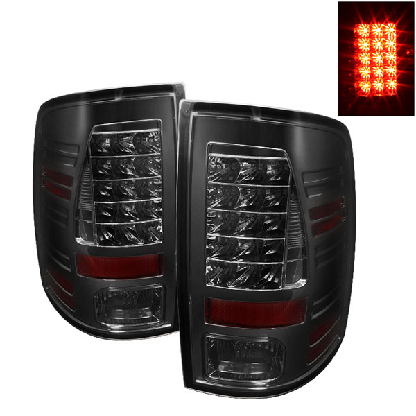 Spyder (5017581)  Dodge Ram 1500 09-12 LED Tail Lights - Smoke  - (ALT-YD-DRAM09-LED-SM)